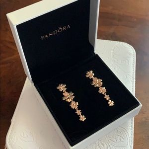 Pandora Rose Drop earrings Wildflower Meadow